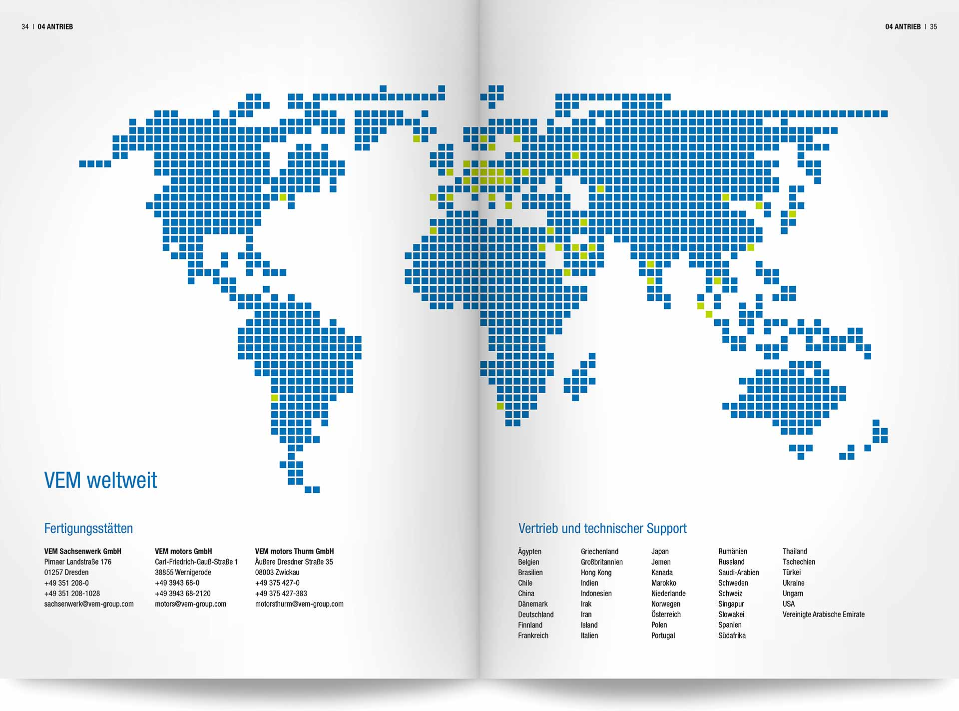 VEM Standorte weltweit