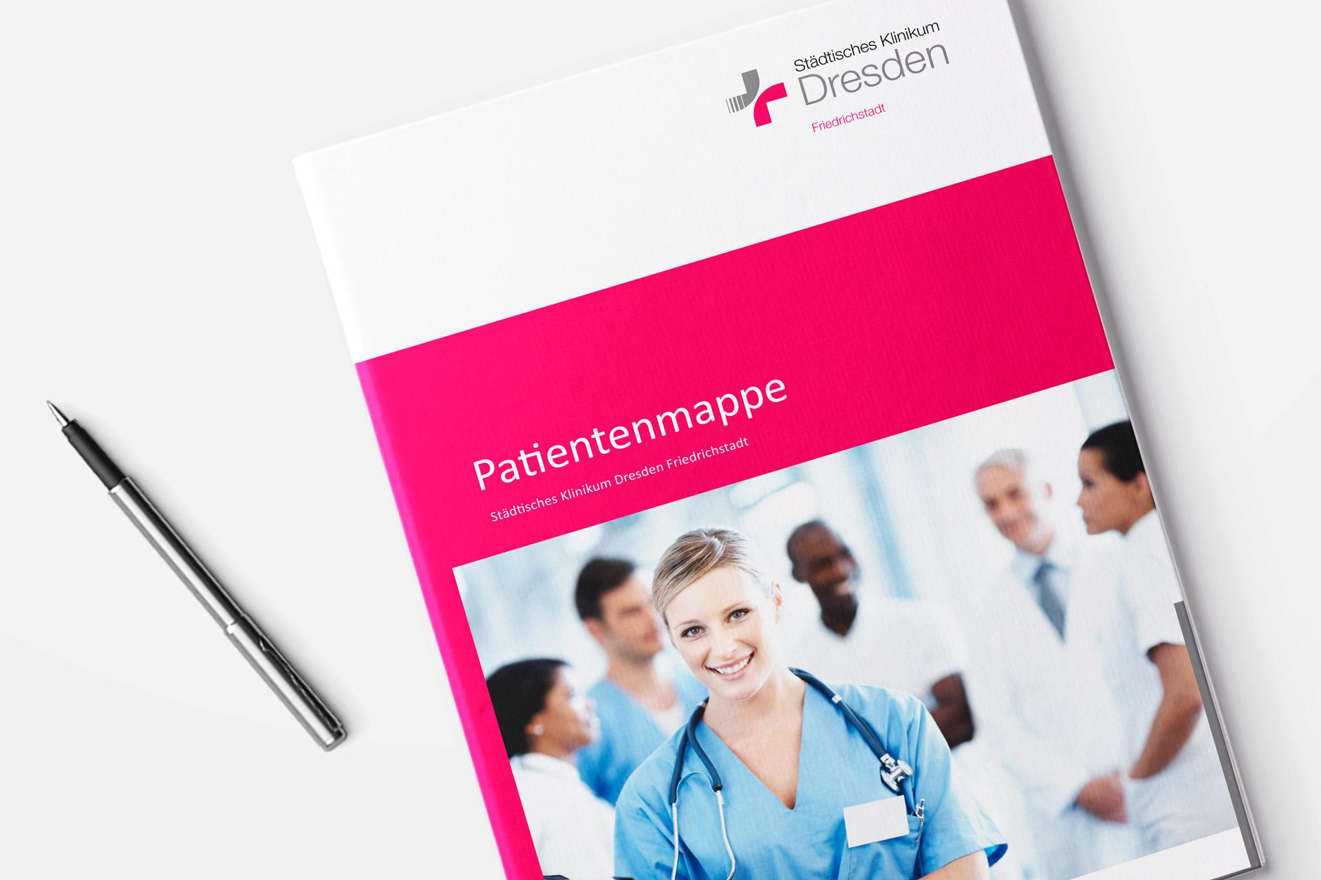 Gestaltung der Patientenmappe Klinikum Friedrichstadt