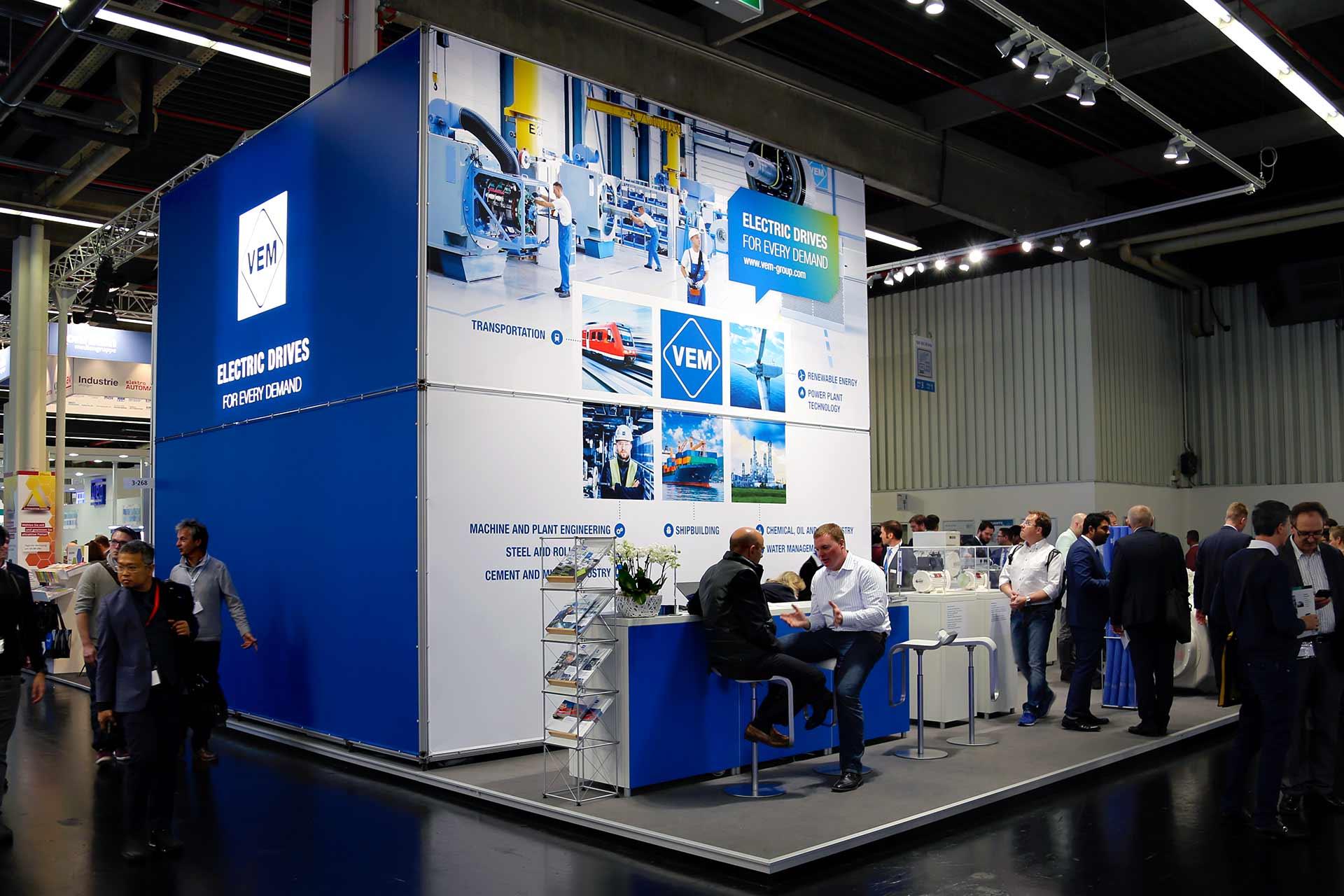 VEM Messestand auf der SPS IPC Drives in Nürnberg 2017