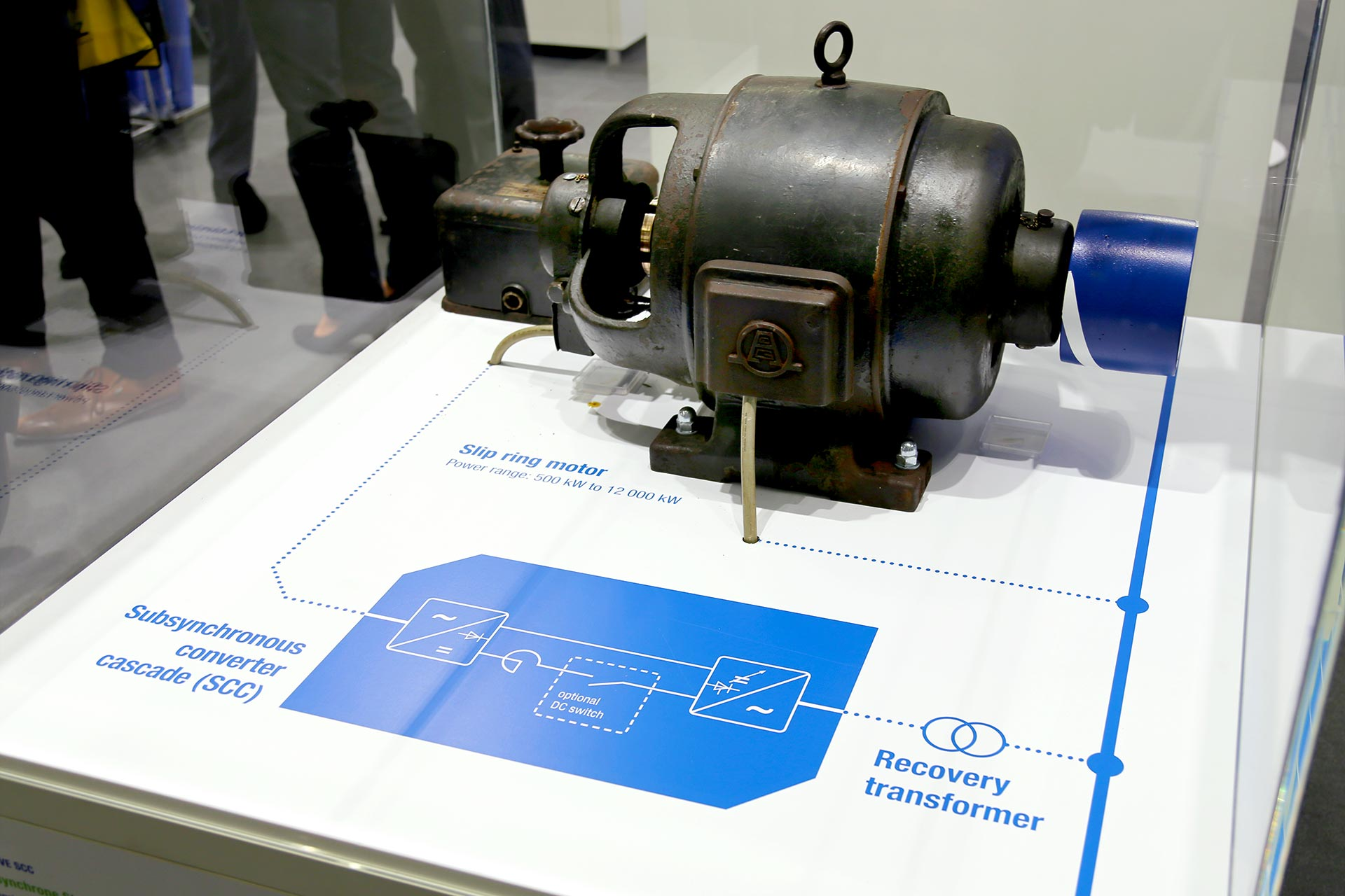 Exponat Motor auf der SPS IPC Drives