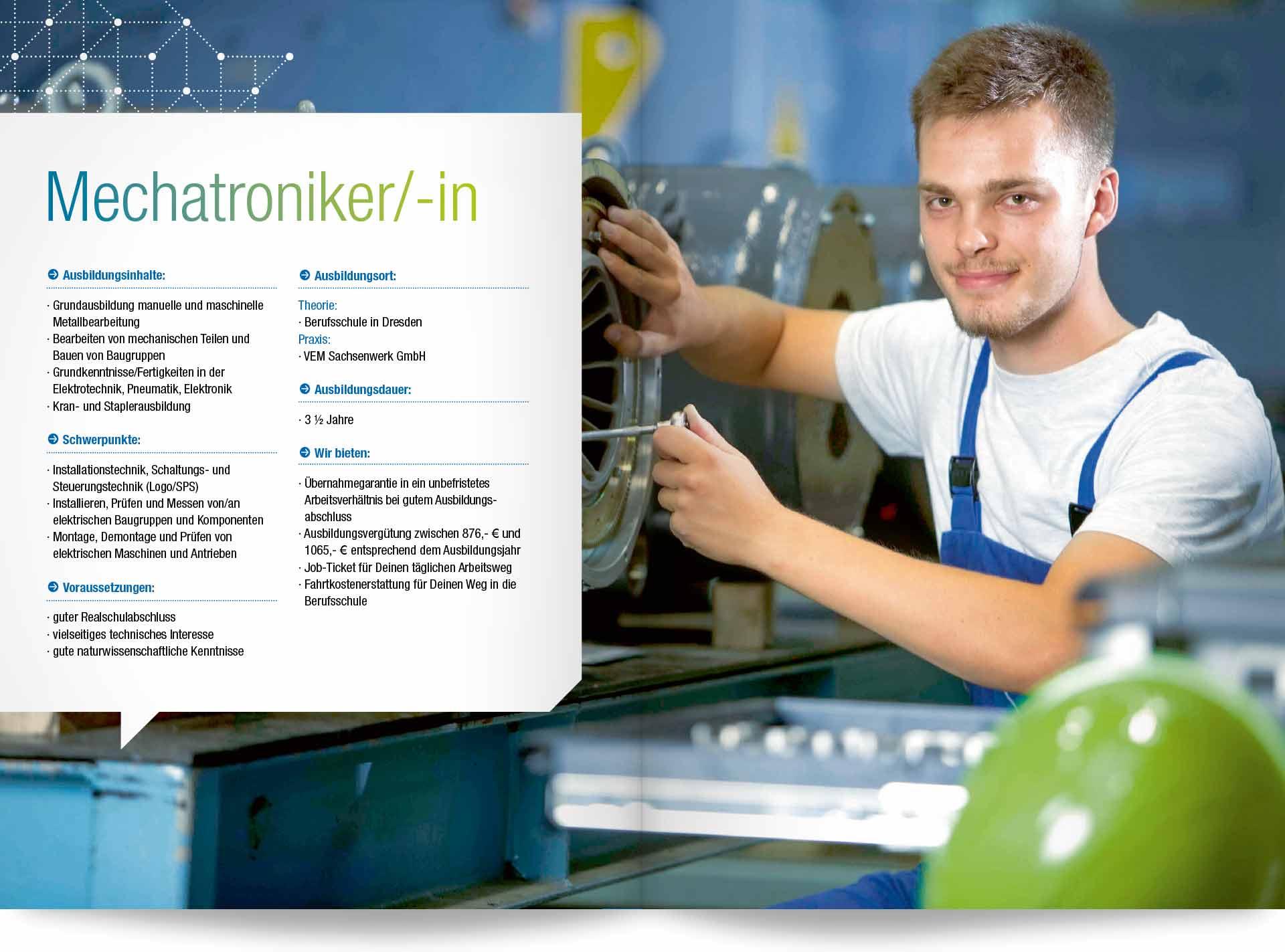 Beispielseite Ausbildungsberuf Mechatroniker