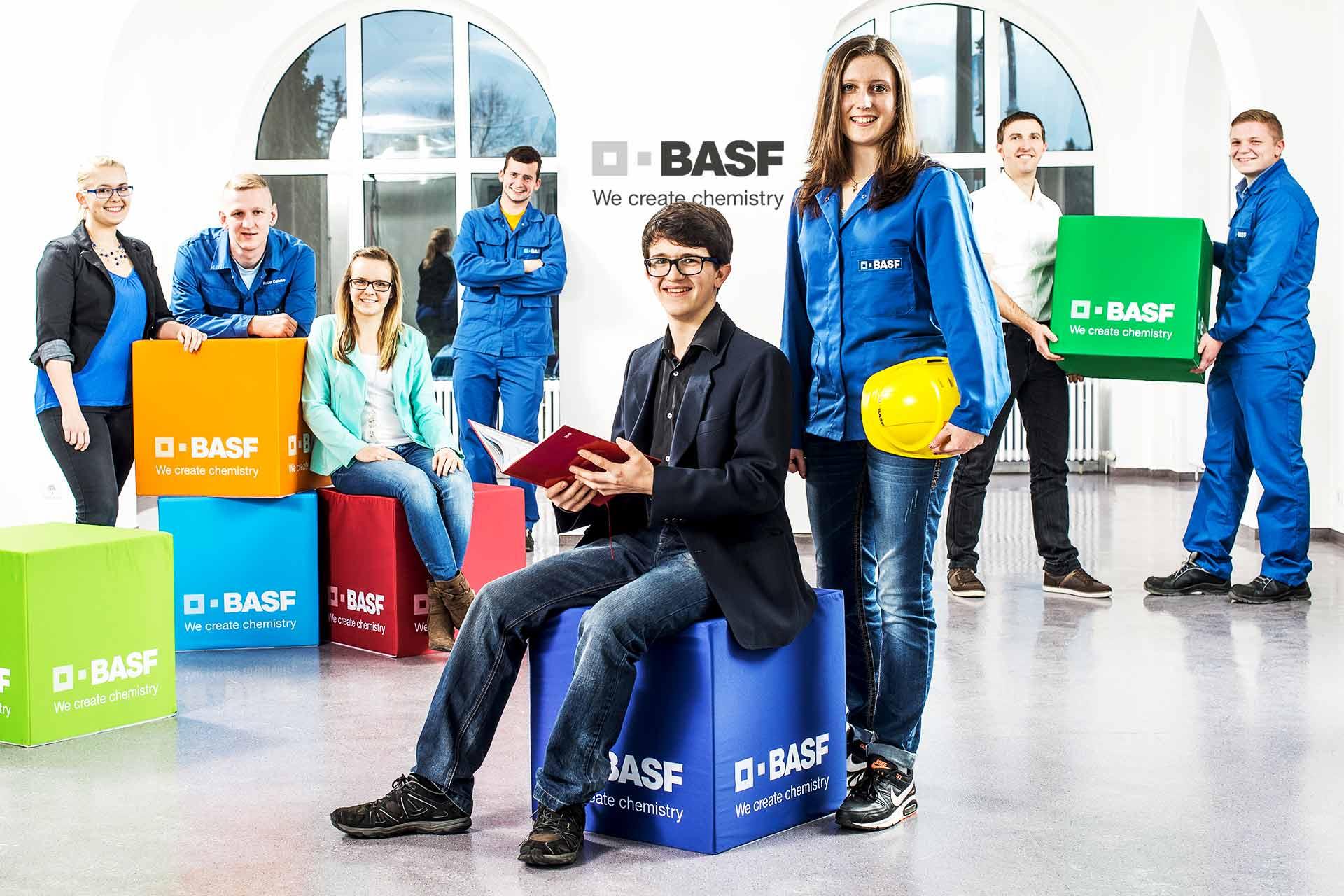 BASF Auszubildende Fotoshooting