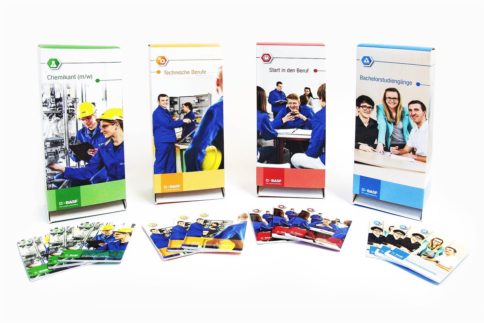 Gestaltung von Informationsmaterial als Z-Card