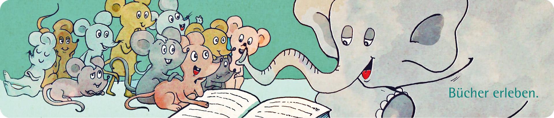 Illustration für ein Kinder-Lesezeichen