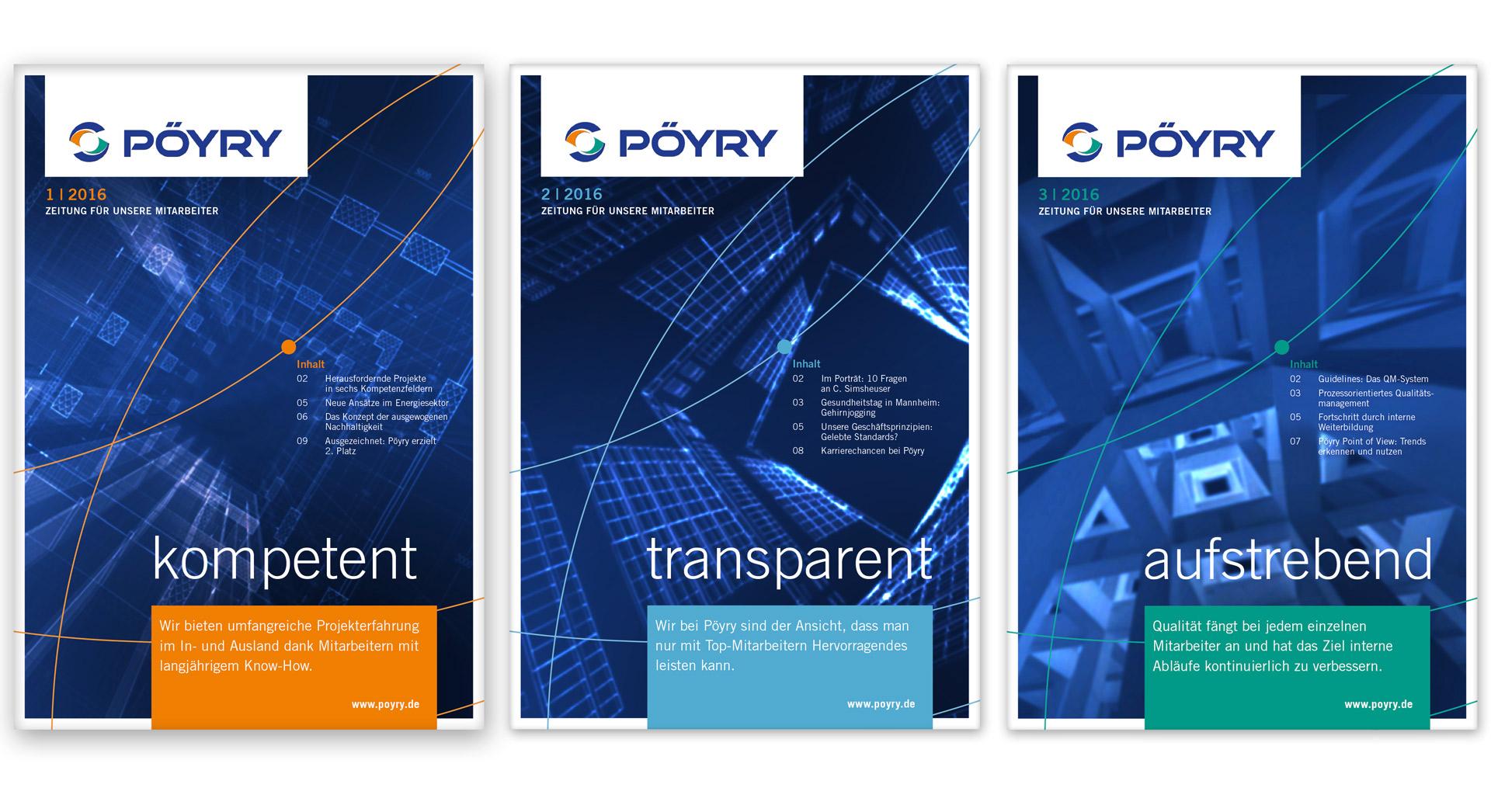Plakat zur Kampagne Employer Branding Pöyry