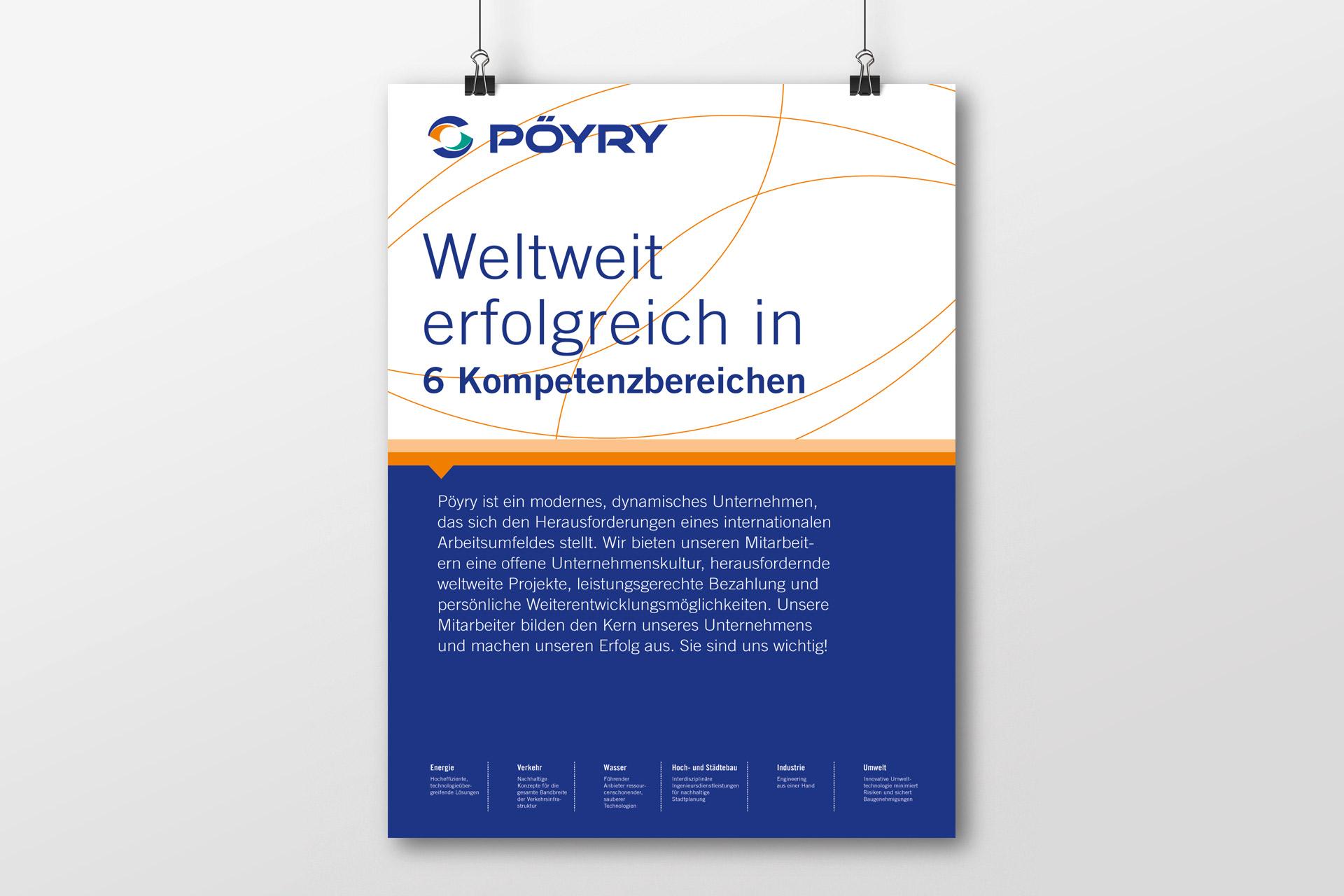 Pöyry Plakat Gewinnung von Mitarbeitern