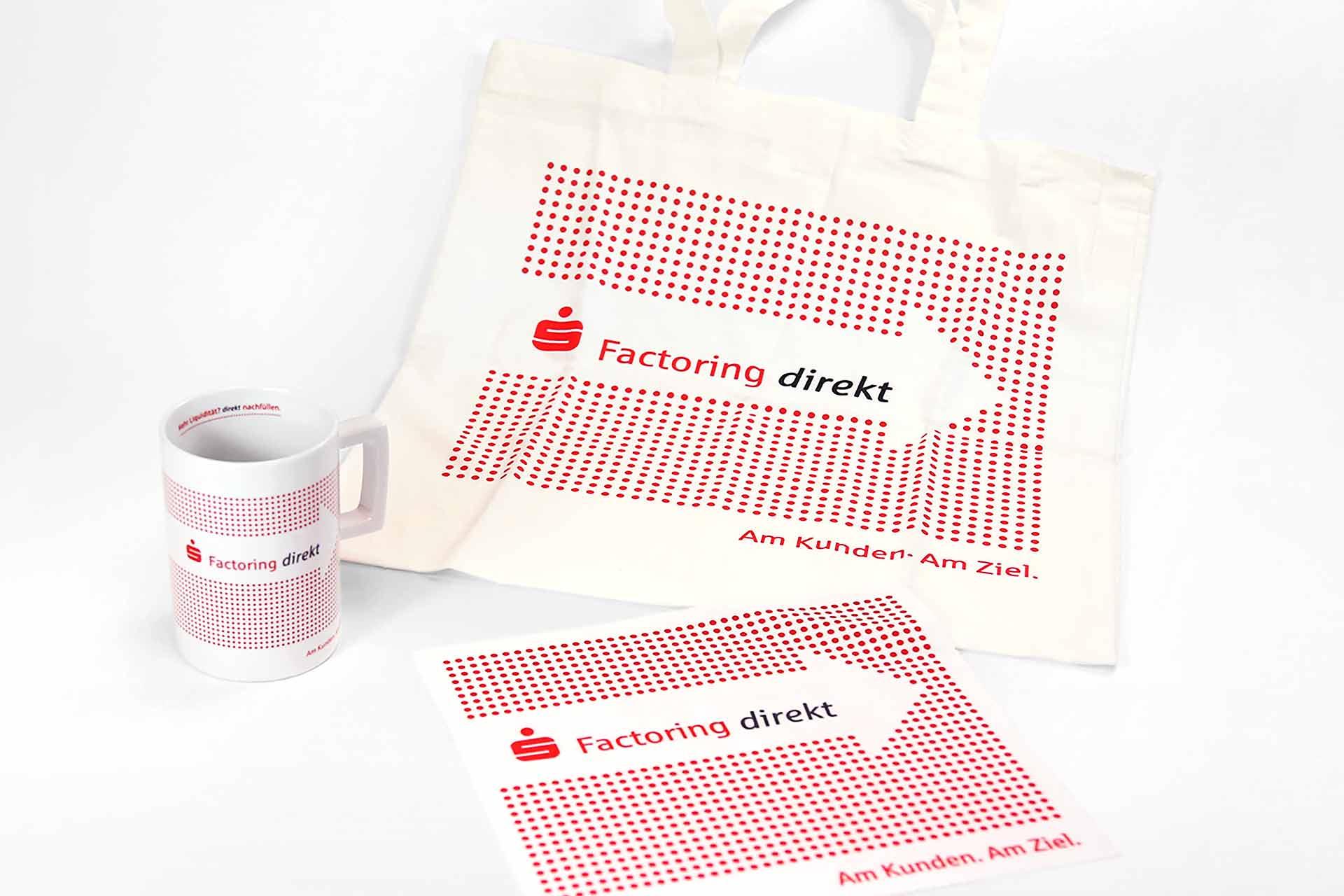 Werbemittel Tasse, Jute-Beutel und Mousepad