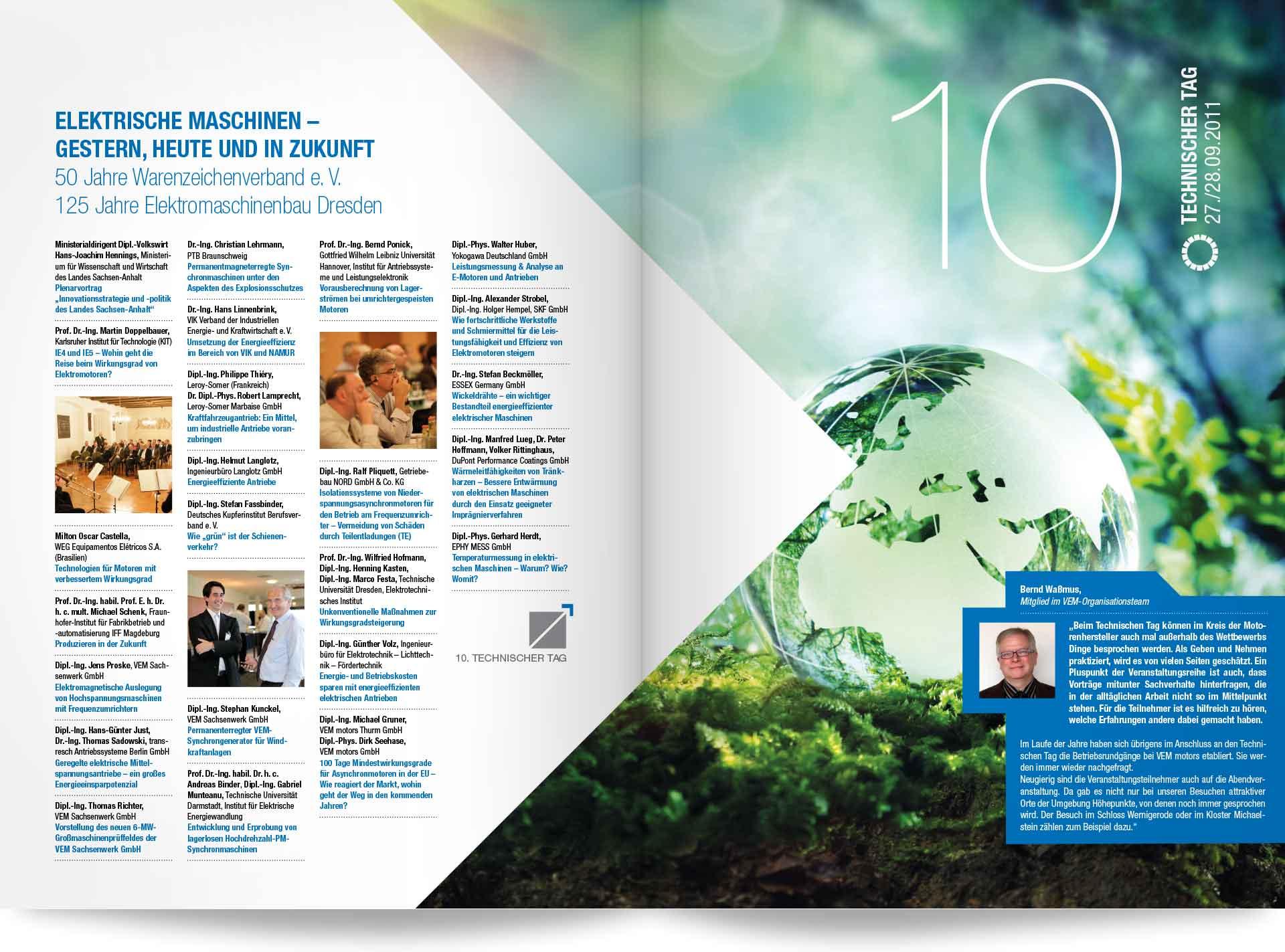 VEM Technischer Tag 2011 Beispielseite