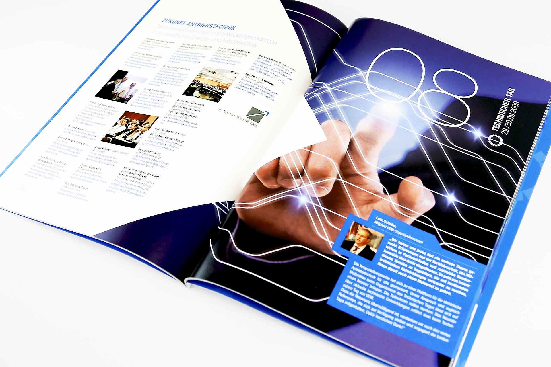 Jubiläumsbroschüre Beispielseite Technischer Tag 2009