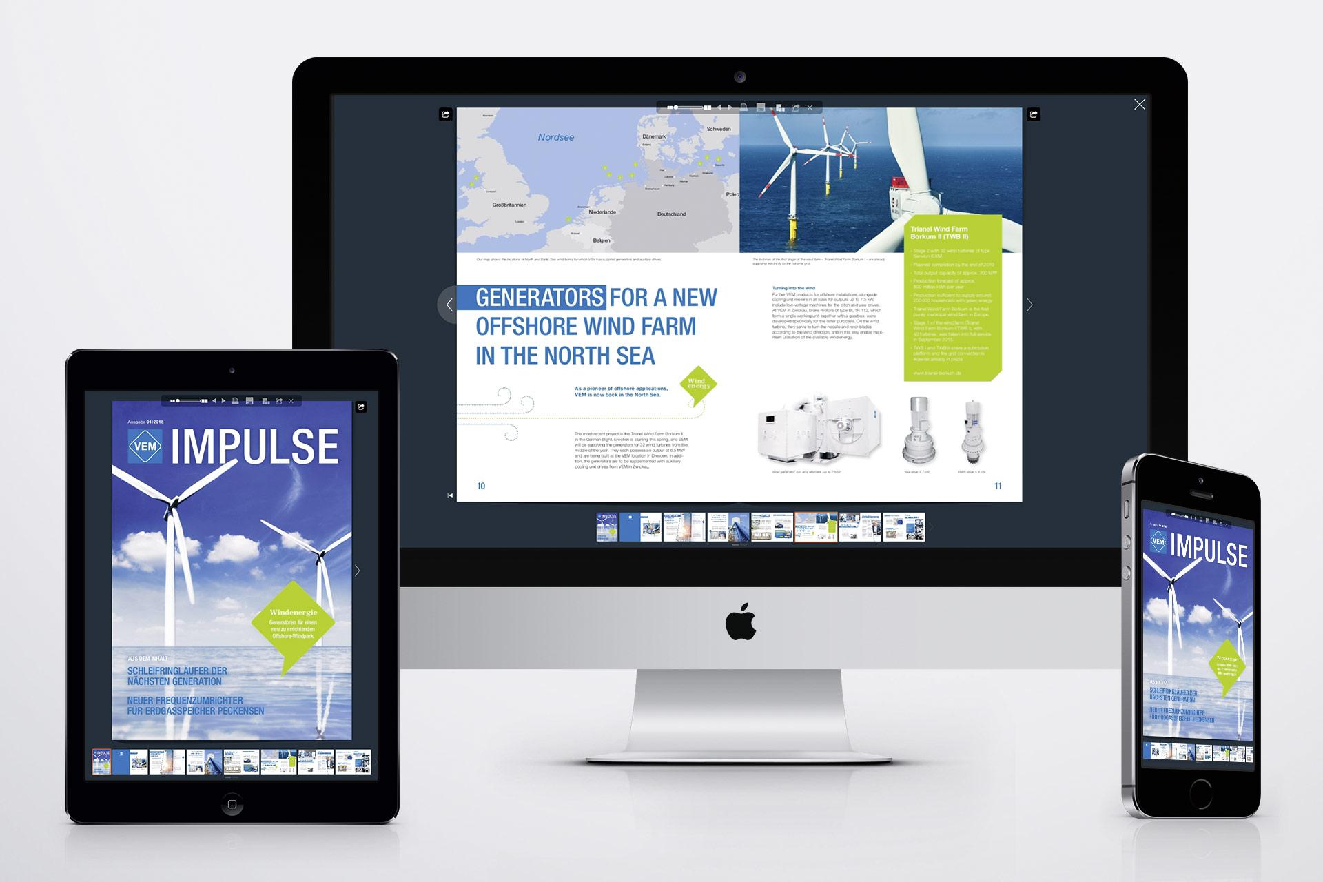 VEM Kundenzeitung Impulse online