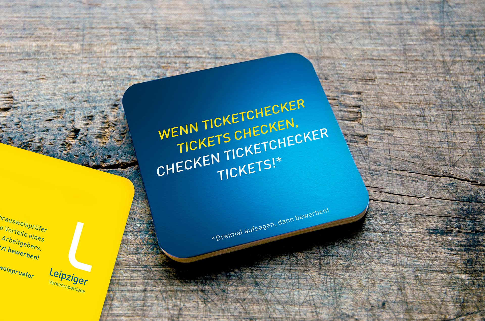 Bierdeckel: Wenn Ticketchecker Tickets checken ...