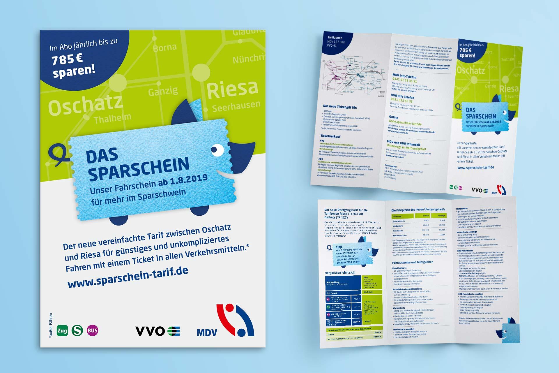 Plakat und Flyer