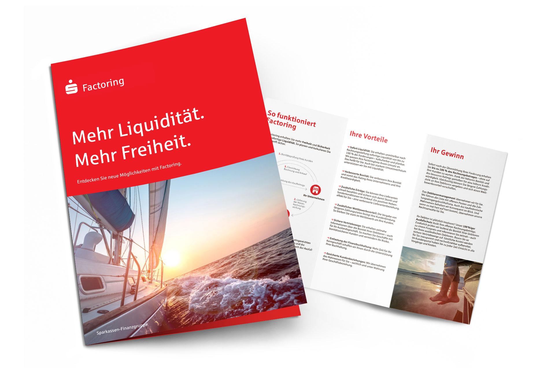 S-Factoring Broschüre und Flyer