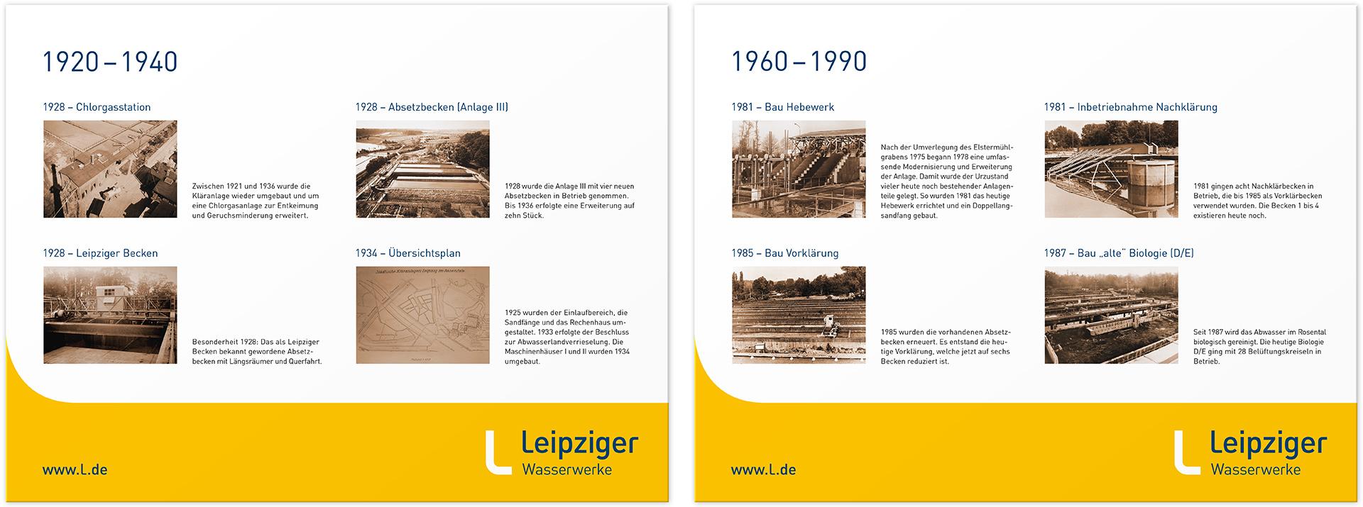 Historische Tafeln 1920 – 1990