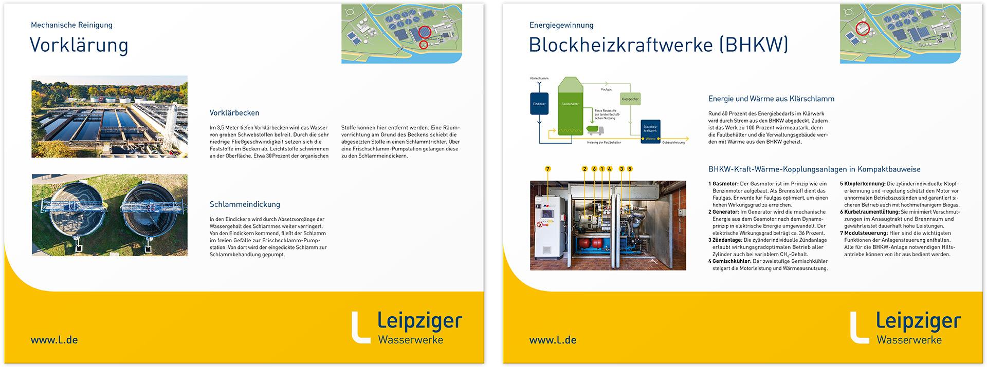 Informationstafel Vorklärung und Blockheizkraftwerke