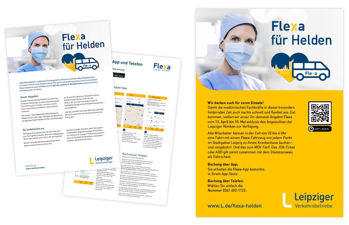 Flexa für Helden – Handzettel und Plakat
