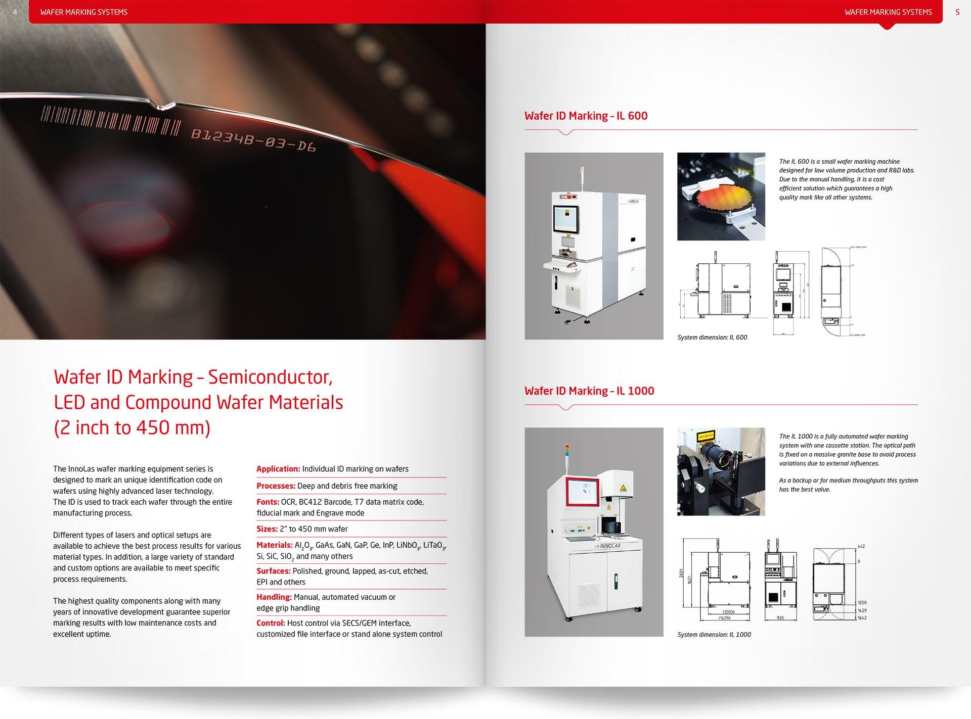 InnoLas Produktbroschüre Beispielseite