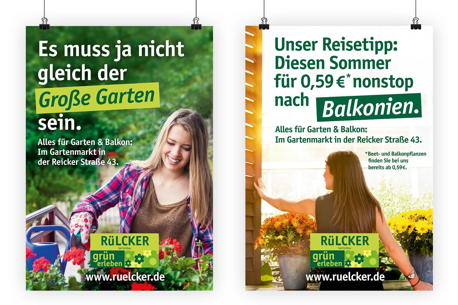 Werbeplakate für Hobbygärtner