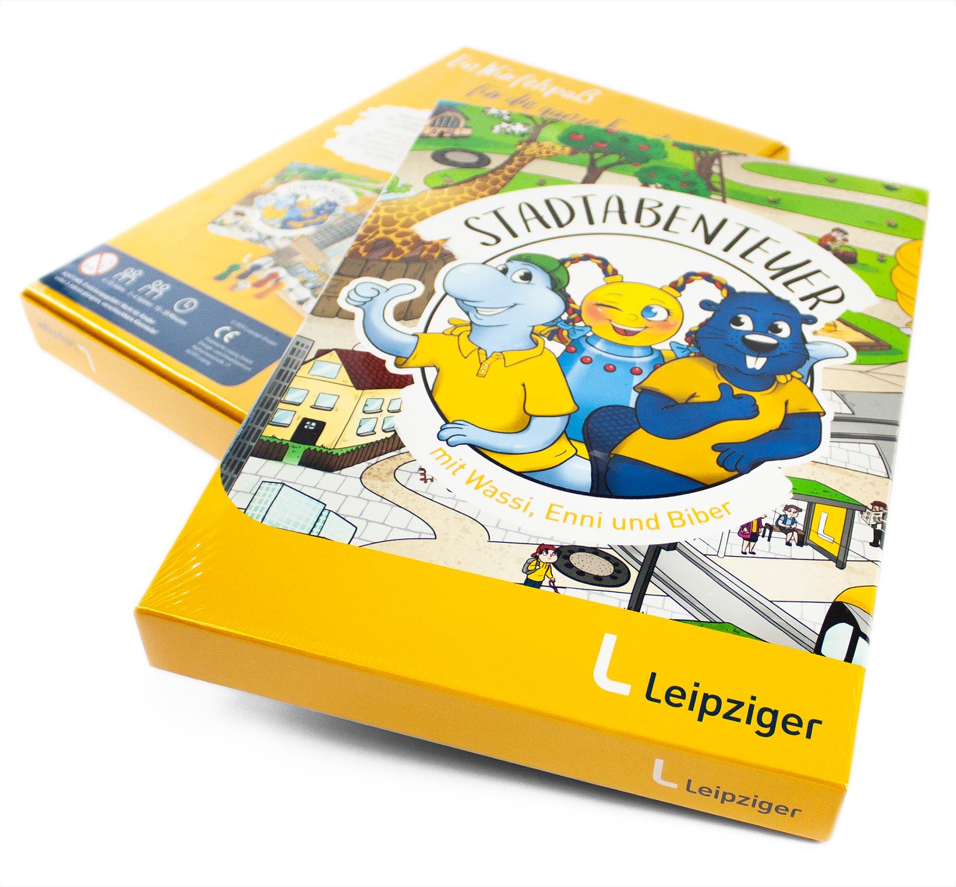Leipziger Gruppe Leiterspiel Verpackung-Composing