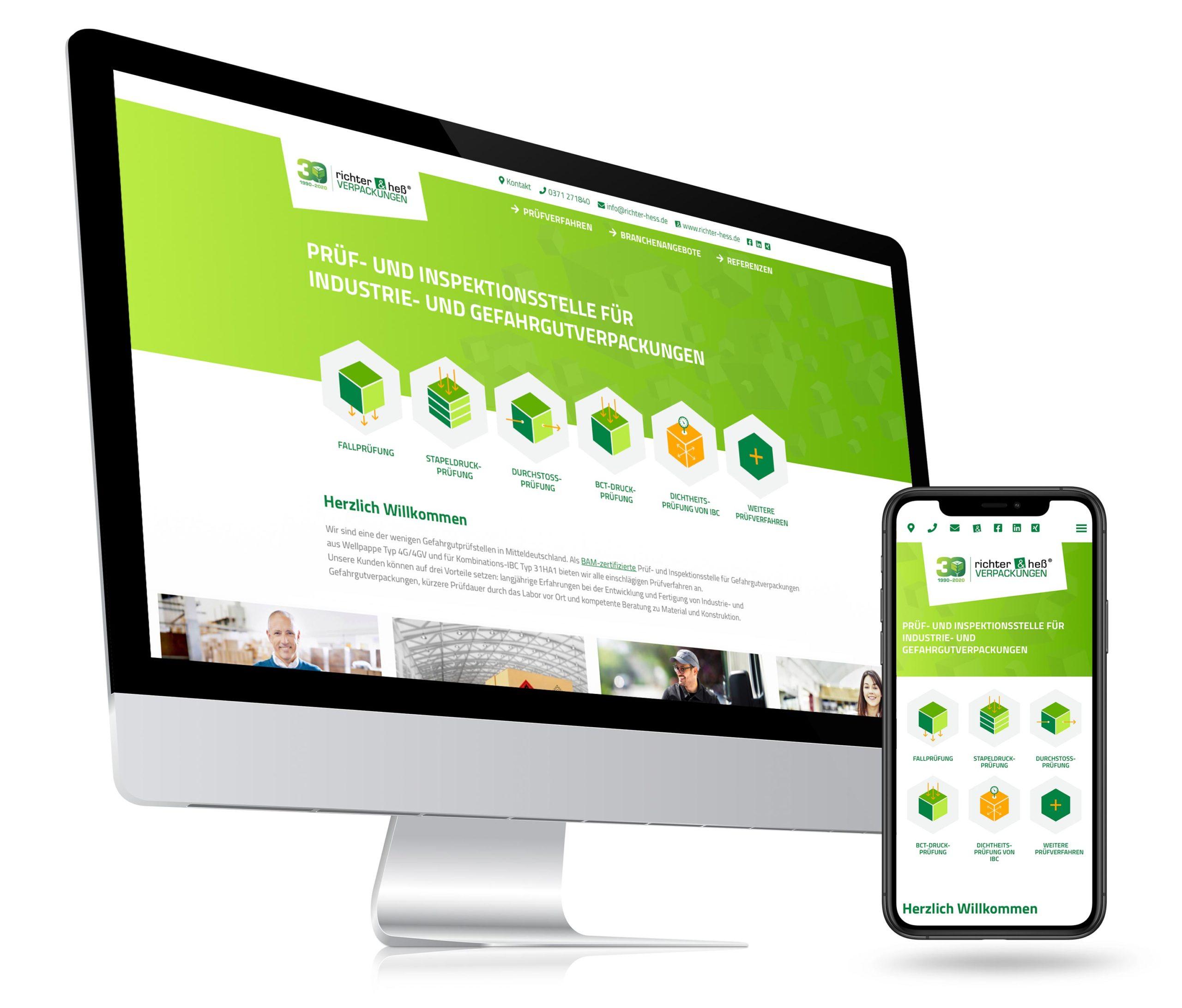 richter & heß Mock-up Webseite-Mac und Smartphone-Responsive