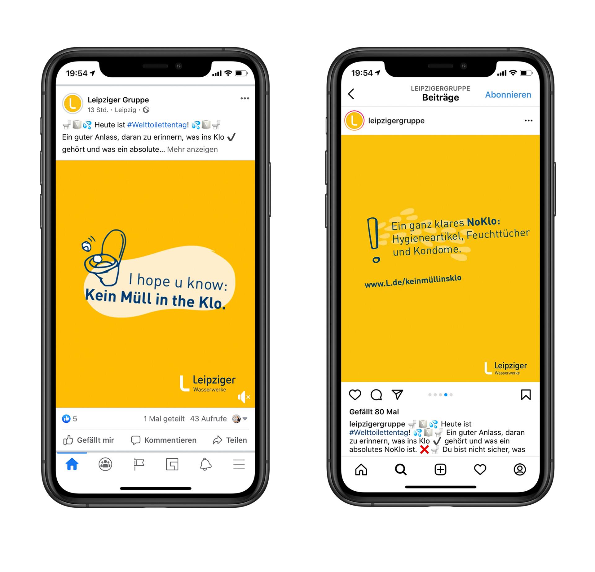 Visualisierung Social-Media-Posts zum Welttoilettentag 2020