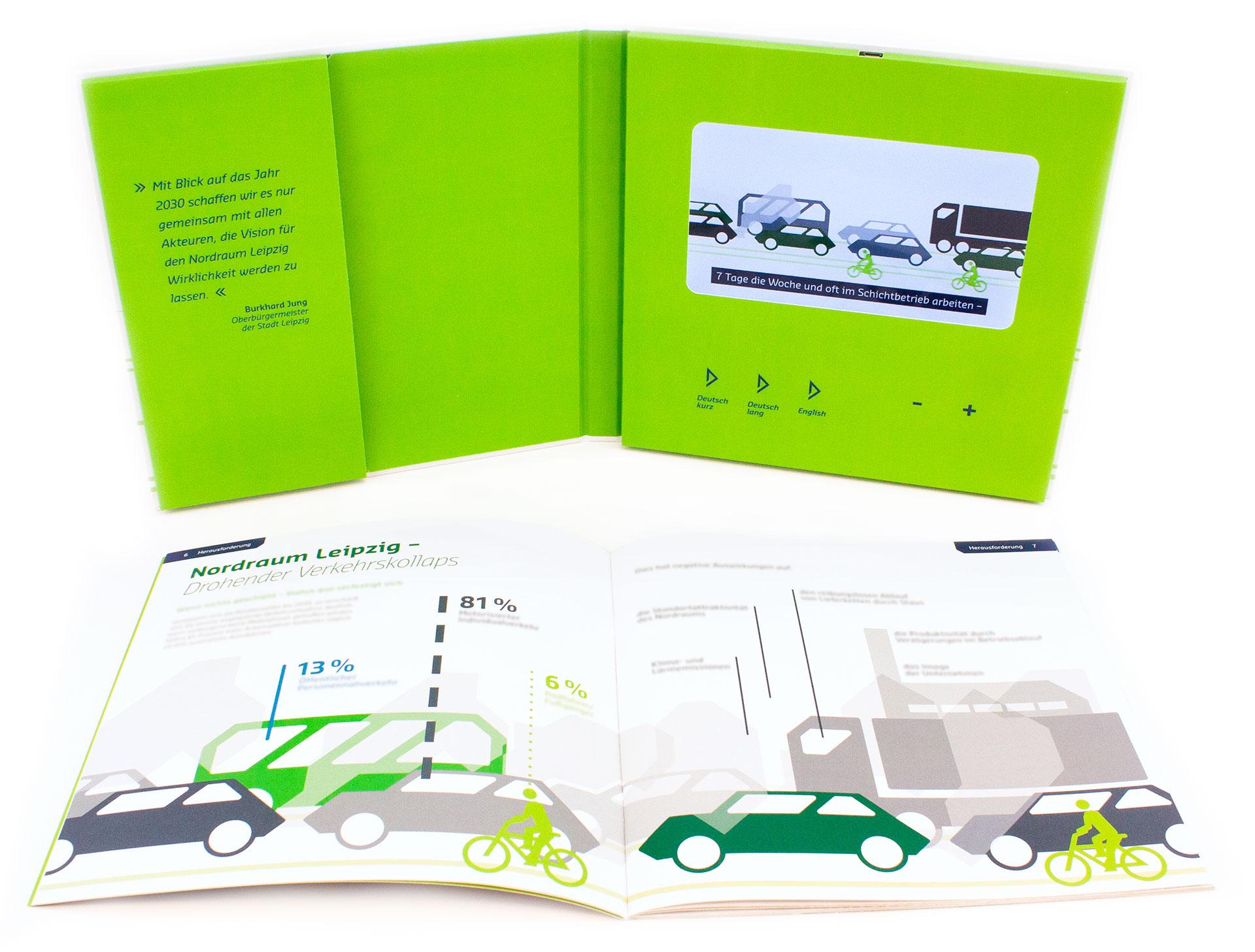 Videokartonage aufgeklappt mit herausgenommener Broschüre