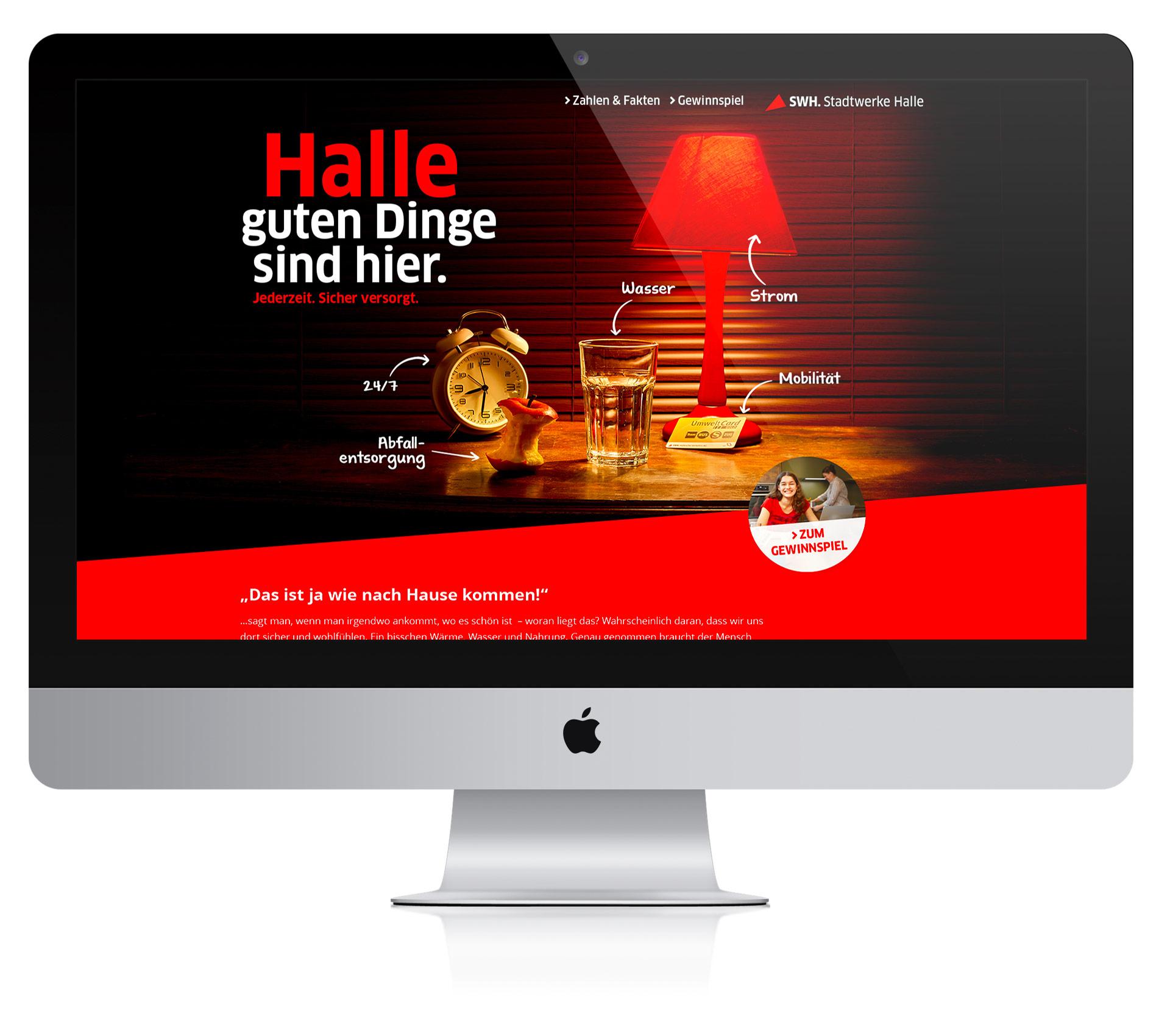 Webseite Stadwerke Halle